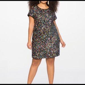 Eloquii Dresses - Eloquii rainbow sequin shift Dress sz 18